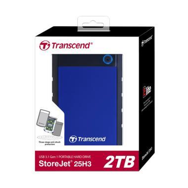 Transcend StoreJet 25H3 Harddisk Eksternal [2 TB/ Antishock]