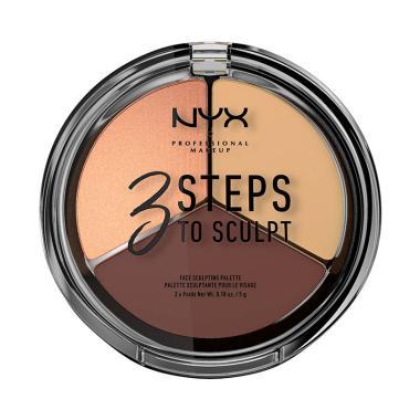 NYX Professional Makeup 3 Steps to  ... culpting Palette - Medium