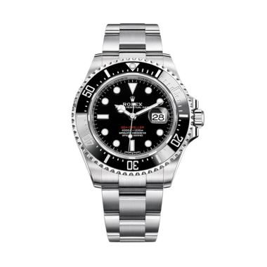 Rolex 126600 Sea-Dweller Jam Tangan Unisex - Hitam