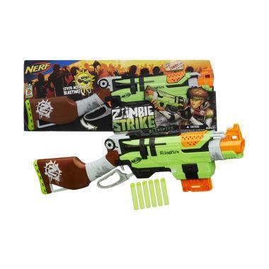 Hasbro Nerf Zombie Strike SlingFire Blaster Mainan [Original]