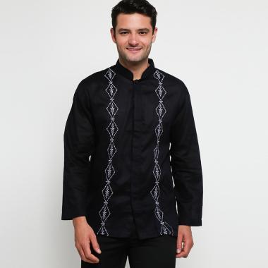 Batik Arjunaweda AW 5 Baju Koko Pria - Hitam [97019016]