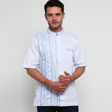 Batik Arjunaweda Baju Koko Alkmaar  Baju Koko Pria - Biru [94062028]