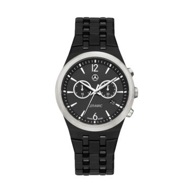 harga Mercedes-Benz Chronograph Ceramic Jam Tangan Pria - Black Silver [Original] Blibli.com