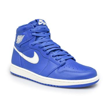 lowest price dfb5e 5c30e DIJAMIN MURAH - NIKE Men Basketball Air Jordan 1 Retro High OG Sepatu  Basket Pria - Hyper Royal   Sail  555088-401