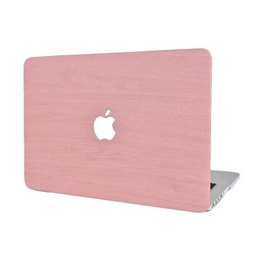 Cooltech Wood Shell Cover Hardcase Casing for MacBook Pro 13 Inch A1706 or A1708 - Pink