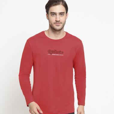 ab747cff0 RBJ Lengan Panjang T-Shirt Pria - Merah [207870333]