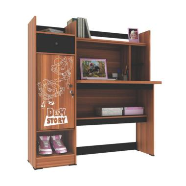 Best Furniture Rc Mb0608 Meja Belajar Anak Dengan Rak Dan Lemari Serbaguna 115 X 120 Cm