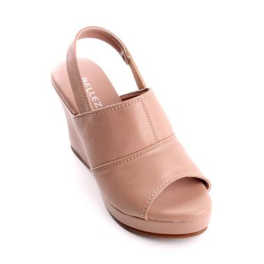 harga Belleza MK803-03 Bordir Casual Slip On Sandal Wedges Wanita Blibli.com