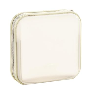 harga Bluelans 40 CD DVD Discs Square Carry Storage Case Organizer Holder Album Protector Bag - Cream Blibli.com