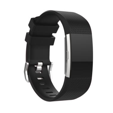 Bluelans Silicone Sports Smart Watch Wrist Strap Bracelet Wristband for Fitbit Charge 2 [S]