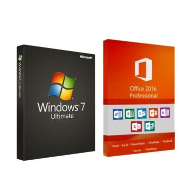 harga Microsoft Windows 7 Ultimate & Office 2016 Pro Plus Software Lisensi [Original/ 32/ 64 bit] Blibli.com