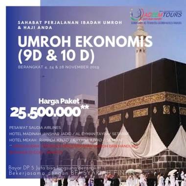 harga adeemtour Paket Umroh by SV/GA [Periode 4, 24, & 28 November 2019] Blibli.com