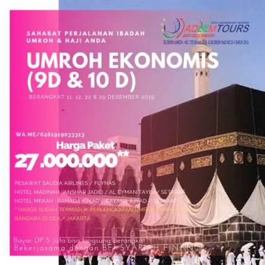 harga adeemtour - Paket Umroh by SV/GA [Periode 11, 12, 22 & 29 Desember 2019] Blibli.com