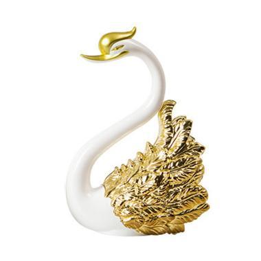 harga Crown Swan Shape Cake Topper Wedding Anniversary Party Sweet Baking Decoration 11cm Gold Blibli.com
