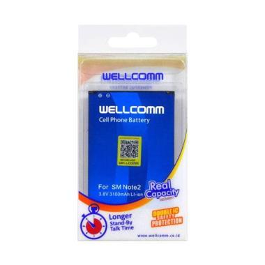 harga Wellcomm Baterai Handphone for Samsung Galaxy Note 2 N7100 [Original/3100mAh] Blibli.com