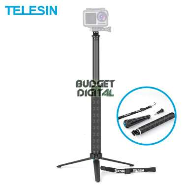 harga Telesin Carbon Fiber Selfie Monopod Aluminum Tripod for Action Cam [0.9 m] Blibli.com