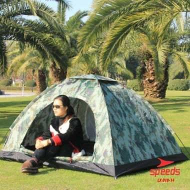 harga SPEEDS-Tenda Camping Kapasitas Luas 3-4 Orang Tenda Gunung Camo Model Dome Loreng Outdoor Indoor New 018-14 - Army Blibli.com