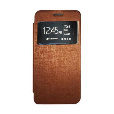 Gea Flip Cover Casing for Oppo R827 - Coklat