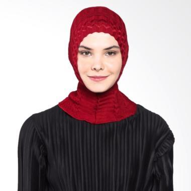 Teera Hijab Ciput Rajut - Maroon