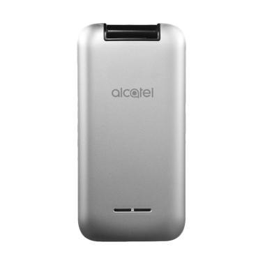 Alcatel 2051 Flip Handphone - Metal Silver [Dual SIM]