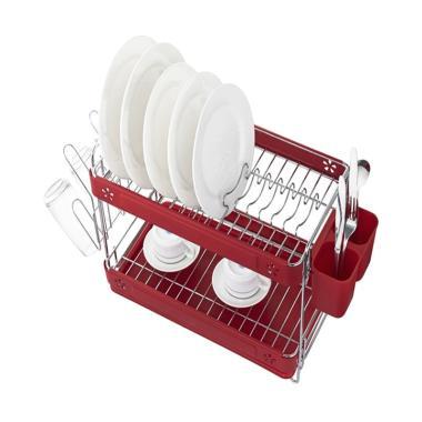 HIAS Basila 2 Layer Dish Rack - Sirius Red