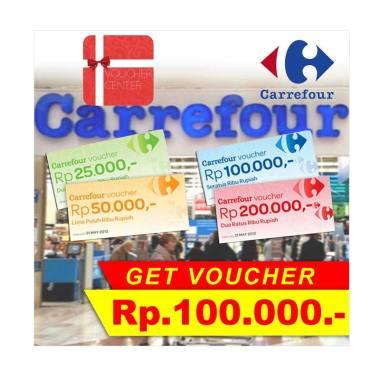 Carrefour Voucher Center Rp  50 000,-