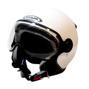 Zeus Retro ZS-210 Helm Half Face - White