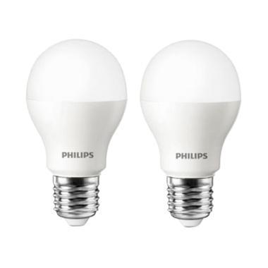 PHILIPS LED Lampu Bohlam - Putih [10.5 W/2 pcs]