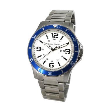 Jacque Martin 3273 Jam Tangan Pria - Silver Blue 297e8a58ab