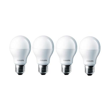Philips LED Lampu Bohlam - Putih [7watt/ 4pcs]