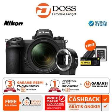 harga DOSS Nikon Z7 Kit 24-70mm f4 S + FTZ Mount Adapter GARANSI RESMI / Nikon Z7 BLACK Blibli.com