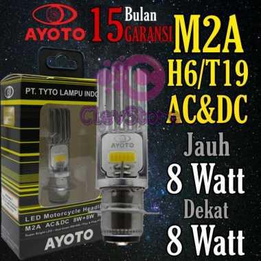 Lampu Motor Depan LED AYOTO M2A H6 AC & DC Motor Matic / Bebek KUNING