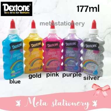 harga Glitter Glue / Lem Gliter Dextone 177ml Blue Blibli.com