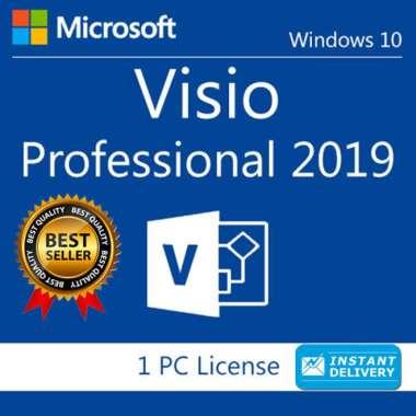 harga Promo Visio Profesional 2019 32/64bit Original Lisensi Blibli.com