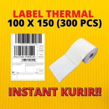 LABEL THERMAL 100X150 STICKER BARCODE ALAMAT KIRIM 100 X 150 300 PCS