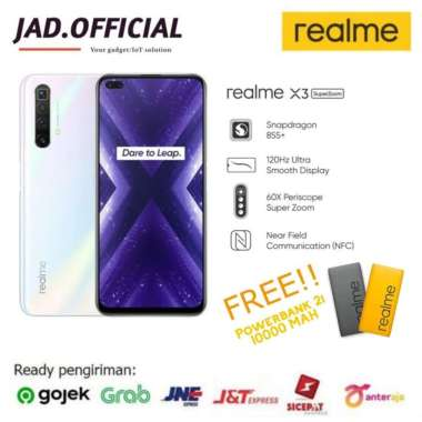 harga REALME X3 Superzoom RAM 12/256GB NEW GARANSI RESMI (Free Powerbank) Arctic White Blibli.com