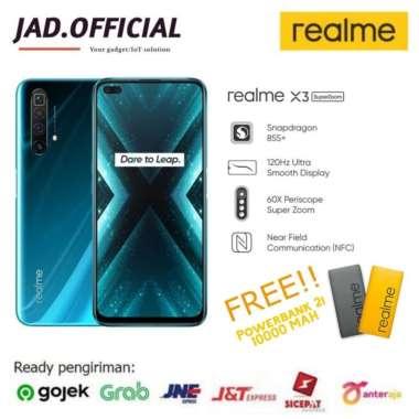 harga REALME X3 Superzoom RAM 12/256GB NEW GARANSI RESMI (Free Powerbank) Glacier Blue Blibli.com