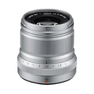 harga Fujifilm Fujinon XF 50mm f/2 R WR Lensa Kamera - Silver Blibli.com