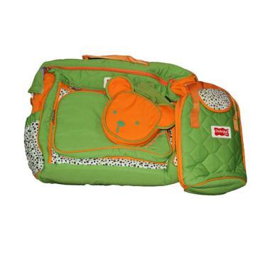 Dialogue Baby DGT-7235 4 IN 1 Large Polka Series Baby Bag - Green