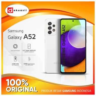 harga Samsung Galaxy A52 8/128 8/256 GB Kamera 4K RAM 8 ROM 128 256 Snapdragon 720G HP Amoled Resmi SEIN Awesome White 8/128GB Blibli.com