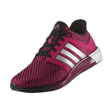 adidas Women Running Solar Boost Shoes Authentic Pink-Grey (D68999)
