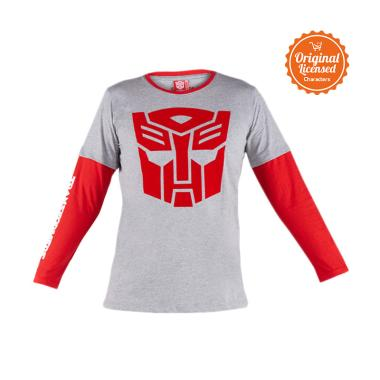 Transformer Autobots Logo T-Shirt Anak Laki-laki - Grey