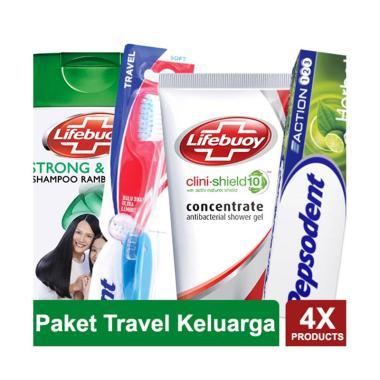 Paket Travel Keluarga   Shampoo Lifebuoy Strong   Shiny 7ac8bfb3c4