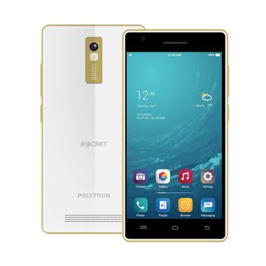 Polytron Rocket T3 R2507i Smartphone - White Gold [16 GB/ 1 GB]