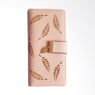 Aamour Leaf Wallet Dompet Wanita - Pink