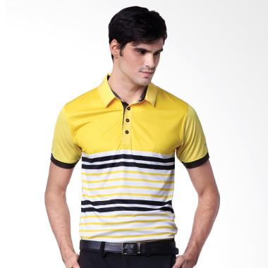 Svingolf Distilled Polo Baju Golf - Sunflower Black