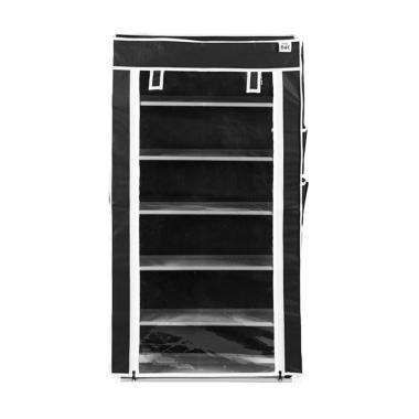 Nine Box Rak Sepatu - Charcoal Black [6 Tingkat]