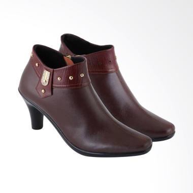 JK Collection Fashionable Leather A200 Women Formal Boots - Maroon