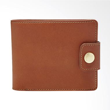 Fossil Barron Bifold Wallet Dompet Pria - Brown ML 3748200