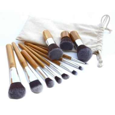 harga Kuas Make Up - Make Up Brush 11 Set with Pouch Premium Quality Murah Blibli.com
